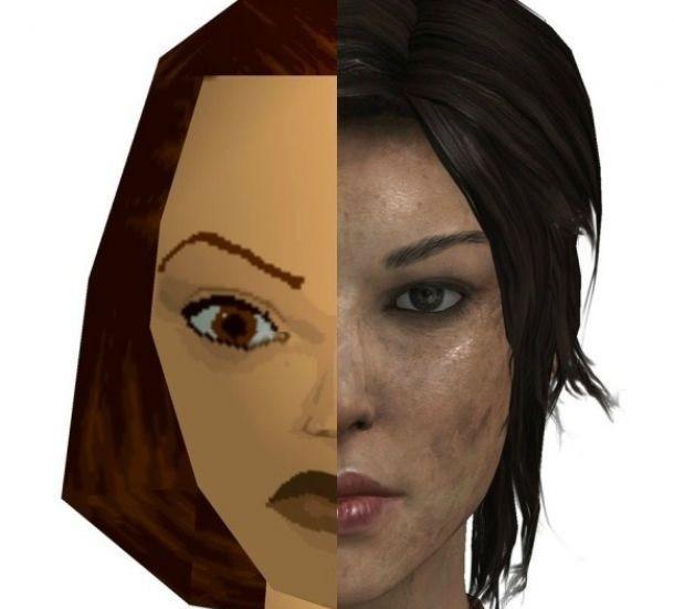 Lara Croft wczoraj i dziś.