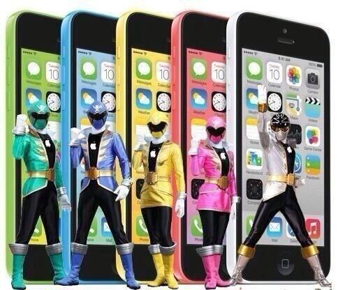 Go go iphone rangers!