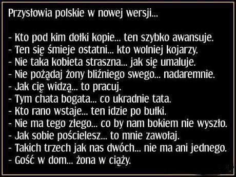Przysłowia polskie w nowej wersji
