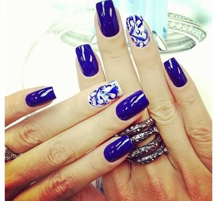 niebieski + biel
