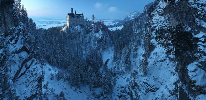 Piękny zamek w niemczech