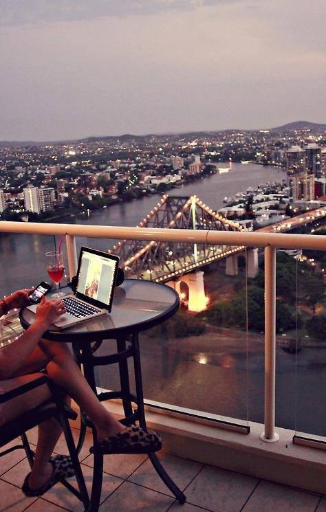 cudowny widok z balkonu.